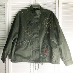 New H&M Divided Military Utility Oversized Jacket